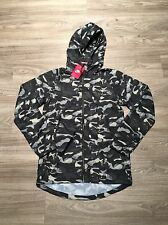 Nike Women T/F Track & Field Camo Windrunner Jacket S 687611-010 $110 Black NWT