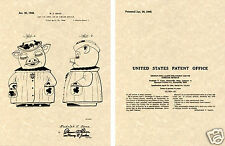 SHAWNEE SMILEY PIG Cookie Jar US Patent Art Print READY TO FRAME!!! 1945 Ganz