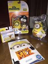 Despicable Me Minions LOT OF 4 BuildAMinion Micro Playset  Plush Sticker Book