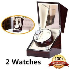 [New Arrival] Love Nest Handmade Wood Automatic Watch Winder Box Double/Dual ...