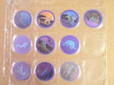 POGS/MILKCAPS MAGIC MOTION DINOSAURS COMPLETE SET OF (10) AWESOME