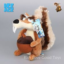 Ice Age 4 Continental Drift Funny Squirrel Scratte Plush Doll Soft Doll 8'' New