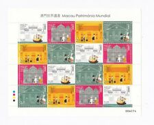 China Macau 2005 World Heritage Boat Temple Church Building full stamp sheetlet
