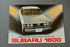 Brochure Subaru 1600Pick Up Estate Coupe Saloon, 1977