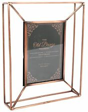Old Bronze Foundry Copper Style Wire Box Frame ~ Freestanding Photo Frame 5 X 7
