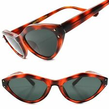 True Vintage Fashion Deadstock Rockabilly 80's Black Womens Cat Eye Sunglasses