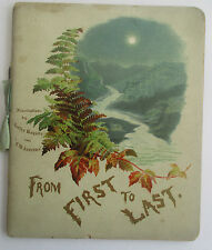 FROM FIRST TO LAST OR THR CURRENT OF LIFE c1900 BY SUSAN & ELIZABETH LECKY