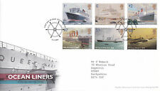 13 APRIL 2004 OCEAN LINERS ROYAL MAIL FIRST DAY COVER SOUTHAMPTON SHS (a)
