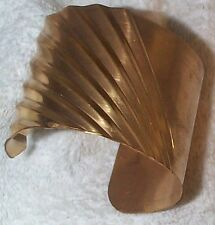 VINTAGE GORGEOUS DECO 2 INCHES WIDE BRASS CUFF BRACELET WOW