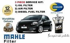 FOR FIAT GRAND PUNTO 1.9 MJTD DIESEL 2006-> SERVICE KIT OIL AIR FUEL FILTER KIT