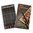 Derwent Tinted Charcoal Pencils 12 Tin