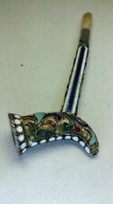 Super Rare Antique RUSSIAN 916 Sterling Silver & Enamel Opium Pipe Size 4""