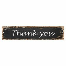 SP0041 Thank you Street Sign Bar Store Shop Cafe Home Kitchen Shabby Chic Decor