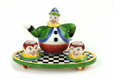Toys In The Cupboard Clown Mini Miniature Porcelain Tea Set By Vandor