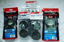 TAMIYA 1/10 RC CAR TIRE(53227)+WHEEL(53336)+INNER SET M2 Radial, Reinforced wh.