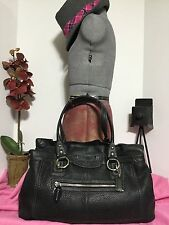 Coach Penelope Black Pebbled Leather Tote / Shoulder Handbag F14682