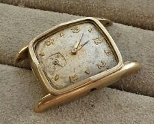 Gents rolled gold watch head for restoration, calibre 683, loose balance.