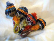 Vintage Made in Guatemala Woven Rattles Shakers Noise Makers *4*
