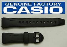 CASIO WVA-104HA Original 16mm BLACK Rubber Watch BAND Strap  WVA-104HY WVA-104H