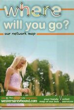 WESTERN GREYHOUND BUS MAP 2010 Cornwall VGC