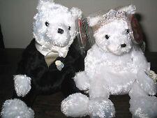 Ty Beanie Baby/bebés novia y el novio osos 2002