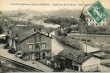 CARTE POSTALE / CHATILLON SUR CHALARONNE QUARTIER DE LA GARE