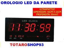 OROLOGIO DIGITALE DA PER PARETE MURO A LED 46 X 22 CM ULTRAPIATTO SLIM