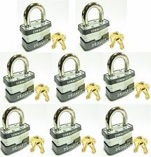Lock Set by Master 3KA (Lot 8) KEYED ALIKE Commercial Steel Laminated Padlocks