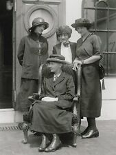"""*Postcard-""""Four Ladies...Dressed Up"""" /Front of Building/ (#96)"""
