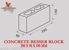 Concrete Besser Blocks 390 x 90 x 190 (10.01)