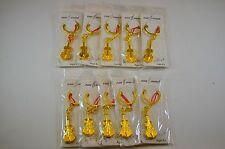 Golden Violin Keychain, Group sale 10pcs Pack, Perfect Gift