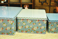 Vintage Style Exclusive Tin Boxes for ornaments, chocolates storage  - 3 pcs.Set