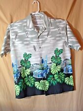 GRAND MEN'S WEAR, MEN'S VINTAGE HAWAIIAN STYLE SHIRT, L, WOODIES, SURF BOARDS
