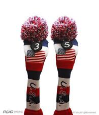 USA Golf Fairway Headcover 3 5  Red White Blue Knit Head Covers Headcovers