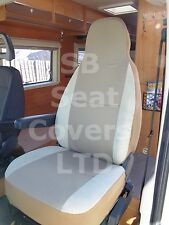 TO FIT A FIAT DUCATO MOTORHOME, 2002, SEAT COVERS, TAFFINO BEIGE, 2 FRONTS