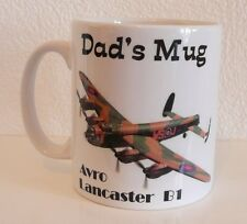 Lancaster Bomber PERSONALISED MUG COFFEE  AIRCRAFT AEROPLANE GIFT, BIRTHDAY ETC'