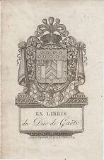 EX-LIBRIS Martin-Michel-Charles GAUDIN (1756-1841), duc de GAËTE, Premier Empire
