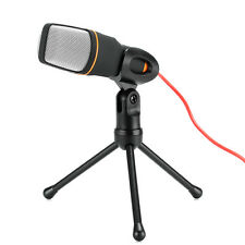 Desktop Stereo Condenser Microphone - 3.5mm Output Jack, Noise Cancellation, 6 i