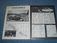 "1973 Toyota Mark II Vintage Road Test Info Article ""The Crown is Dead."""