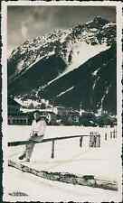 Chamonix et le Brévent (alt.2525m) Vintage silver printEnserrée entre les mass