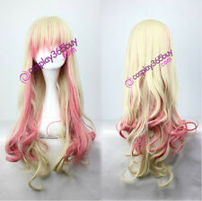 Macross Frontier Sheryl cosplay wig mixed color long curly wig