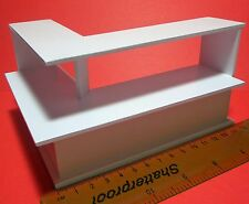 1:12 White Painted Wood Shop Display Counter Doll House Miniature Accessory