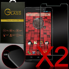 x2 Real Premium Tempered Glass Screen Protector for Motorola Droid Maxx XT1080