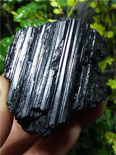 237g Natural Black tourmaline rough polished rock stone Sample Healing  J524