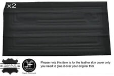 BLACK STICH 2X FULL FRONT DOOR CARD LEATHER COVERS FITS FORD CORTINA MK2 4 DOOR