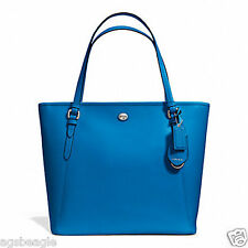 Coach Bag F27349 Peyton Leather Zip Top Tote Cerulean Agsbeagle COD
