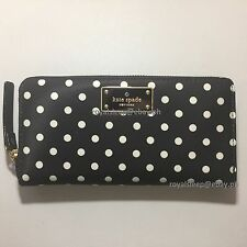 KATE SPADE Blake Avenue Neda Zip Around Wallet (Diamond Dot) *Brand New w/ Tag*