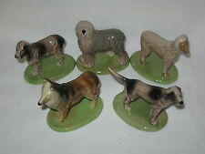 WADE FIGURINES CHAMPIONSHIP DOGS COMPLETE SET OF 5-1975  *MINT*