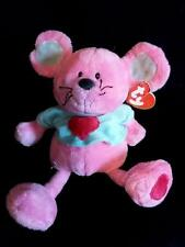 Ty Classics Plush Pink Mouse Blue Shirt ~PATTER~ NWT 2005