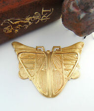 BRASS Egyptian / Art Deco BUTTERFLY SCARAB Stamping - Finding (C-404) `